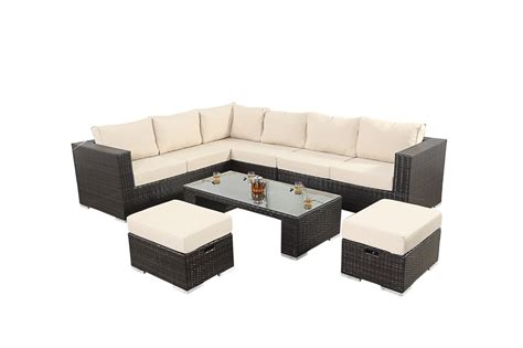 6 Seater Corner Sofa by Luxe Six Seater Corner Sofa Set With Cushions 163 849 99