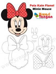 tutorial gambar mickey mouse pola kain flanel minnie mouse kreasi tangan