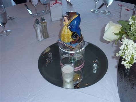 disney themed centerpieces for weddings disney with sorcerer tink disney wedding reception decorations