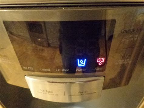 samsung refrigerator filter light won t reset how to change the water filter in a samsung door