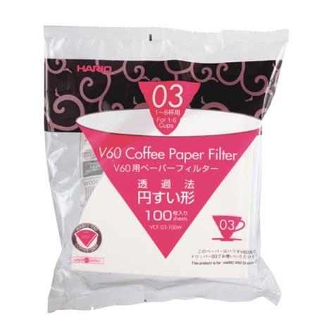 Hario Paper Filter Vcf 03 100w 1 Bestbrew Coffee Brewing Equipment Paper Filter White For