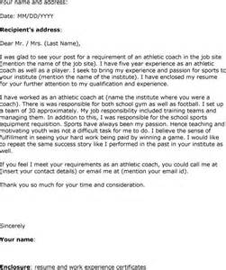 Assistant Football Coach Cover Letter by Athletic Director Cover Letter Template Sgasd X Fc2