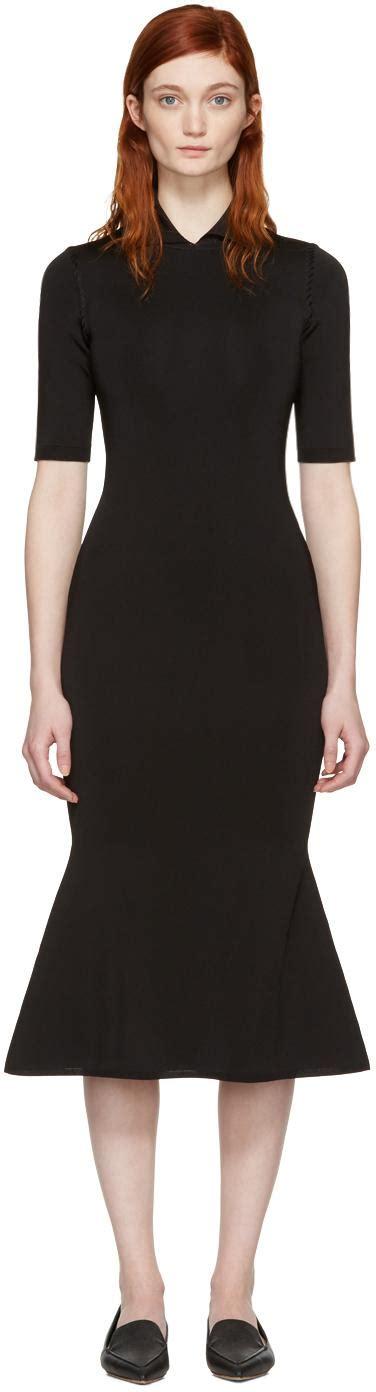 Black Shine Dress lyst beckham black shine flessage dress in black