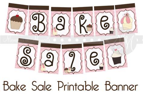 printable banner etsy bake sale printable banner by memoriesinmoments on etsy