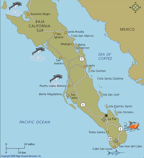 baja mexico map way south mexico way travels with two