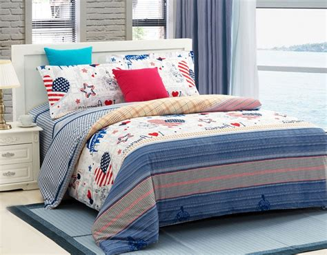 luxury 4 piece cotton comforter sets american party
