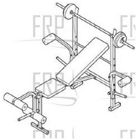 weight bench replacement parts weider 150 webe05930 fitness and exercise equipment