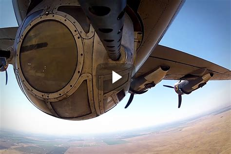 Ball Turret View From A B-24 Bomber | Boldmethod B 24 Ball Turret