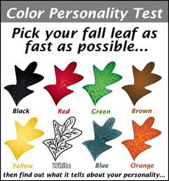 what is your color quiz your colored leaf personality test best stories