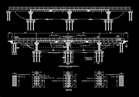 plan drawing composite bridge dwg plan  autocad