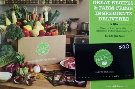 Hello Fresh Gift Card - glossybox october and november style 2014 confessions of a mommyaholic