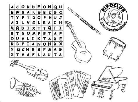 letras para ni241os sopa de letras con instrumentos musicales imagui