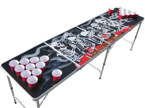 bones pong table with holes
