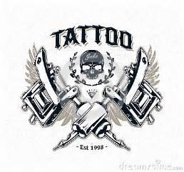 tattoo studio poster stock vector image 44224987