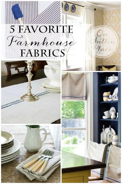 farmhouse home decor fabric 5 favorite farmhouse fabrics on sutton place