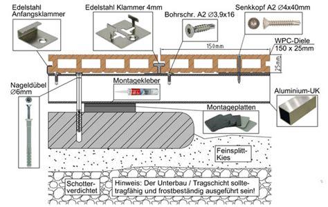 Wpc Dielen Auf Balkon Verlegen by Wpc Bpc Montageanleitung Verlegeanleitung Zu Selbst