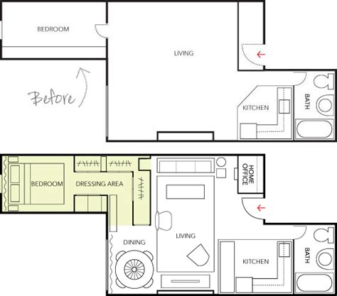 L Shaped Master Bedroom Floor Plan by Thedesignerpad Thedesignerpad Living In 500 Sq Feet