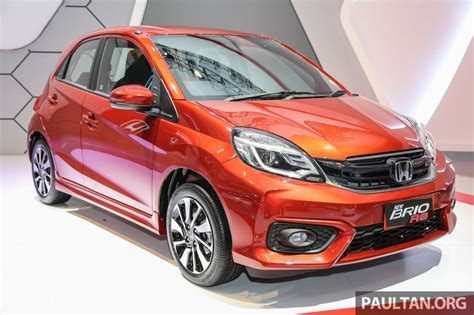 honda brio image honda brio rs launched in indonesia gets amaze facelift