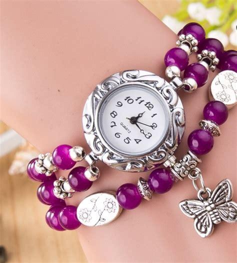 Harga Jam Tangan Quartz Perempuan fashion stylis butterfly bracelet quartz
