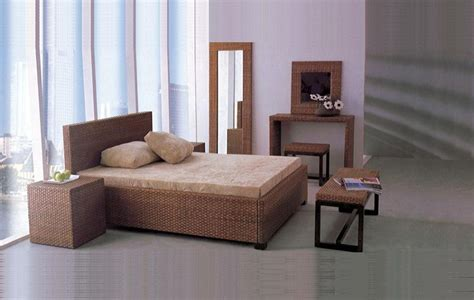 rattan bedroom set china rattan furniture sets for hotel or bedroom sr 010
