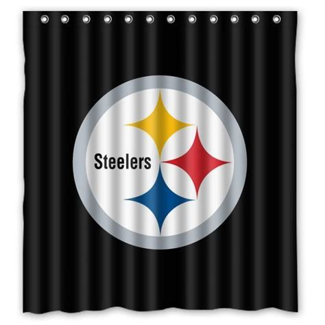steelers bathroom steelers curtains pittsburgh steelers curtain steelers