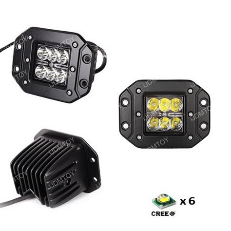 install flush mount light 2 pieces of cree led pod lights kit for driving drl backup