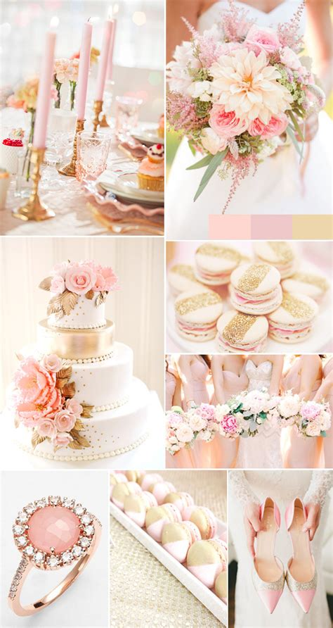 Wedding Theme Idea Pink And Gold Our One 5 by The Gallery For Gt Blush And Gold Wedding
