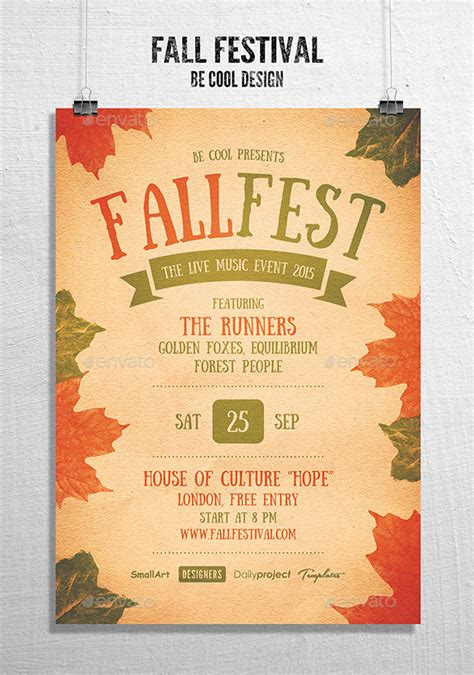 Fall Festival Flyer Poster By Be Cool Graphicriver Fall Festival Invitation Templates