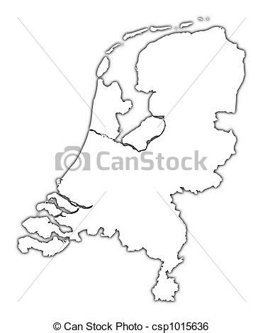 netherlands map dwg stock illustration of netherlands outline map with shadow