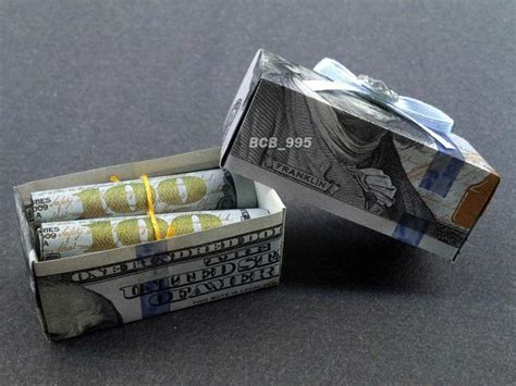 Origami Money Box - beautiful money origami pieces many designs made of