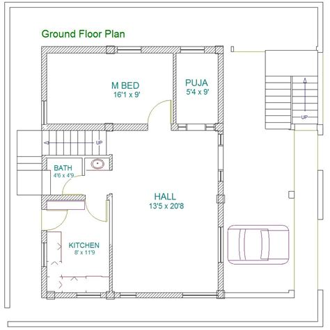 Home Layout Design As Per Vastu by 187 Patil Residence 40x60 East Facing Site Vastu Plan First