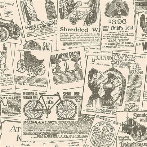 Vintage Newspaper Wallpaper Wallmaya Kc28503 Vintage Newspaper Ads Wallpaper Discount Wallcovering