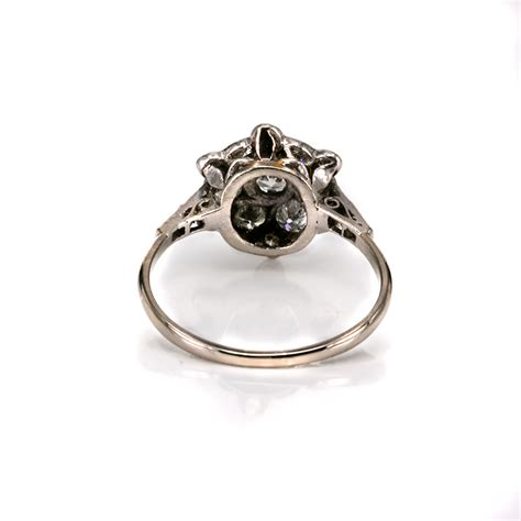 wedding rings deco deco cluster engagement ring