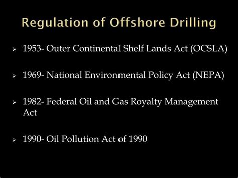 Outer Continental Shelf Act by Ppt Factors In The Matrix That Caused The Bp Gulf