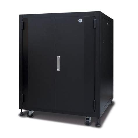 soundproof server cabinets buy serveredge 18ru fully assembled soundproof acoustic
