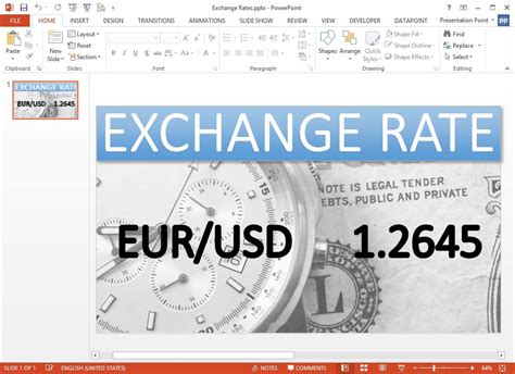 currency converter live display currency exchange rates in a powerpoint presentation