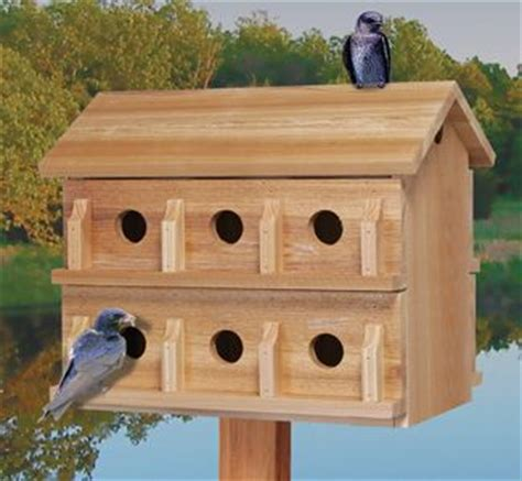 cedar bird house plans ultimate martin house wood project plan this 12 room cedar house features slide out