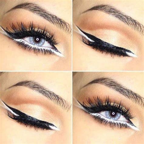 Eyeliner White black and white makeup look mugeek vidalondon