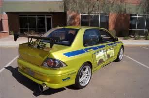 2001 mitsubishi evo custom 4 door quot 2 fast 2 furious quot rear 3 4