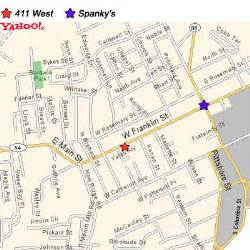 of carolina chapel hill cus map map and directions spanky s restaurant bar in chapel