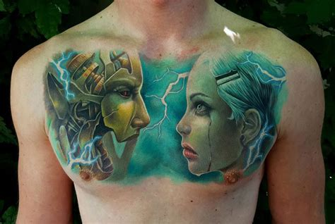cyborg tattoo designs cyborg chest best design ideas