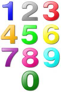 Printable Number One Sheet Of Large Colored Numbers Freeology