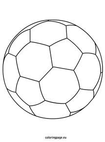 soccer ball coloring page coloring pages