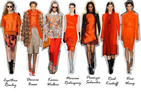 Trend Orange by Trend Report F W 12 New York The Colors The Fashion