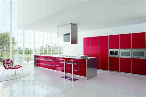contemporary kitchen designs red kitchen furniture modern