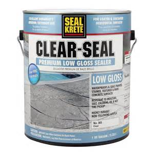 Garage Floor Paint Sealer Shop Seal Krete Clear Seal Premium Sealer 1 Part Clear