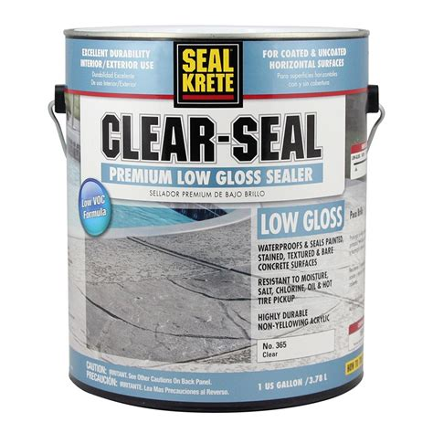 Garage Floor Sealer Lowes by Shop Seal Krete Clear Seal Premium Sealer 1 Part Clear