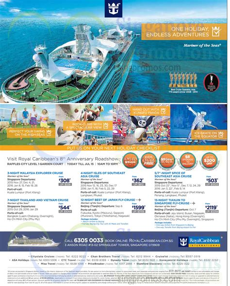 Royal Caribbean Gift Card Discount - royal caribbean 8 jul 2015 187 royal caribbean roadshow raffles city 8 15 jul