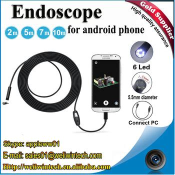 Gratis Ongkir Android 7mm 4cm Focal Distance Endoscope 720p new new new 5 5mm 6 led waterproof usb android endoscope inspection 1m 1