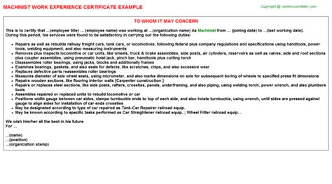 Experience Letter In Gujarati experience certificate format for machinist choice image
